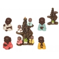 Colourful Robe Monks & Incense Burner Tree Display Pack