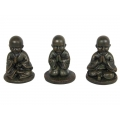 Bronze Praying Boy Monk