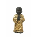 Boy Monk Praying in Gold Robe