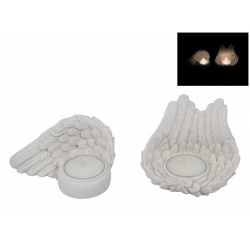 White Angel Wings Candle Holder