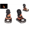 Boy Buddha in Robe Candle Holder & Incense Burner