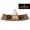 Rulai Buddha Twin Tealight Candle Holder