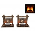 Buddha Face Plaque Twin Candle Holder