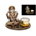 Classical Ganesh with Glass Candle Holder