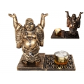 Classical Buddha with Glass Candle Holder
