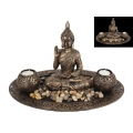 Thai Buddha Twin Tealight Candle Holder