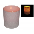 Aztec/Moroccan Design Glass Candle Holder