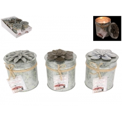 Scented Candle in Floral Gift Tin (330gm)