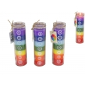 Seven Chakra Candle in Glass Jar