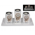 """Follow Your Dreams"" Three Candle Holder Gift Set"