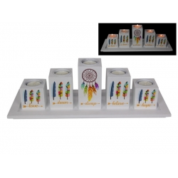 """""""Follow Your Dreams"""" Five Candle Holder Gift Set"""