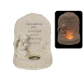 Cherub Memorial Plaque & Candle Holder