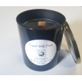 Handmade 100% Soy Candle with Wood Wick (Black Raspberry)