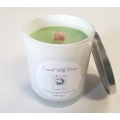 Handmade 100% Soy Candle with Wood Wick (Coconut Lime)