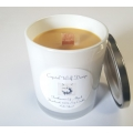 Handmade 100% Soy Candle with Wood Wick (Frankincense Myrrh)