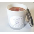 Handmade 100% Soy Candle with Wood Wick (Salted Caramel)