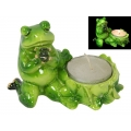 Marble Praying Frog Candle Holder