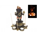 Ganesh Lotus Flower Candle Holder & Incense Burner