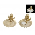 Gold Ornate Ganesh Candle Holder & Incense Burner