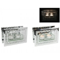 Crystal Glass Diamonte Twin Tealight Holder