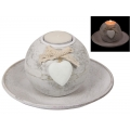 """White Hearts"" Candle Holder Gift Set"