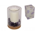 Energy Crystal Patchouli Lavender Candle (160gm)