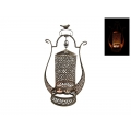 Metal Spinning Candelabra with Bird (Bronze)