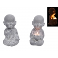 Stone Boy Monk Tealight Holder