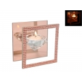 Rose Gold Crystal Glass Tealight Holder