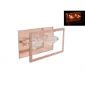 Rose Gold Crystal Glass Twin Tealight Holder