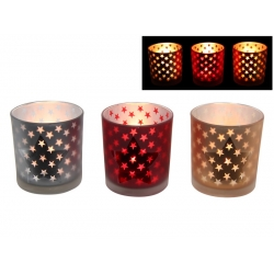 Star Design Glass Candle Holder