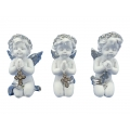Cherub Praying with Silver Cross