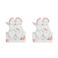 Cherub Lovers on Base with Pink Roses