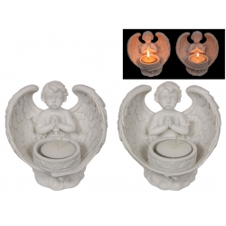 Praying Cherub with Wings Candle Holder