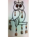 Metal Owl & Bells Mobile