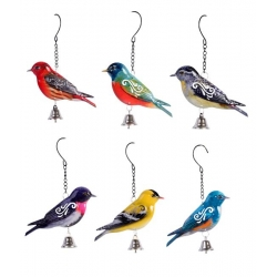 Metal Garden Bird & Bell Wall Art/Hanger