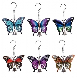 Metal Garden Butterfly & Bell Wall Art/Hanger
