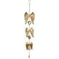 Gold Angel Wings & Hearts Wind Chime