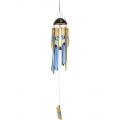Bamboo Blue Butterfly Wind Chime