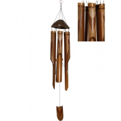Bamboo Coconut Top Wind Chime