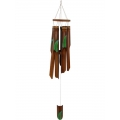 Bamboo Green Leaf Design Wind Chime