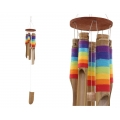 Bamboo Rainbow String Wind Chime