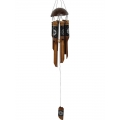 Bamboo Star & Moon Design Coconut Top Wind Chime