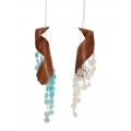 Bamboo Leaf & Shells Wind Chime