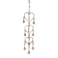 Brass Hearts & Bells Wind Chime