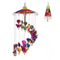 Butterflies & Hearts Umbrella Mobile