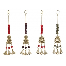 Brass Buddha/Ganesh Bells & Beads Wind Chime