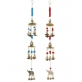 Brass Elephant Bells & Beads Wind Chime