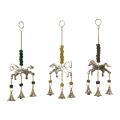 Brass Horse Bells & Beads Wind Chime