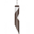 Brown 15 Tube Spiral Wind Chime (Large)